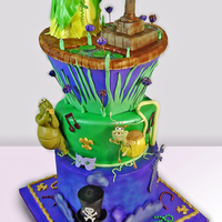 The Princess And The Frog Cake This is the cake I've entered in the NY Cake Convention 2010. I love it myself and it was lot of fun!!! Enjoy!!!