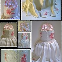 The Dress Cake I've made this Quinceañera for my niece Victoria, she was so happy and proud of her cake!!!