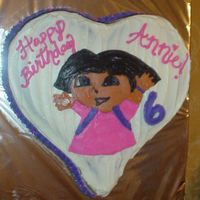 Dora Bct   chocolate cake with cream cheese icing and buttercream dora