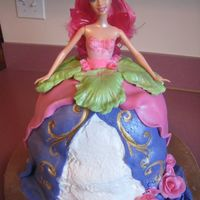 Barbie Fairy Doll Cake My first doll cake. I made it today for my niece's fifth birthday party tomorrow. I dont have the wilton pan for this so I just used...