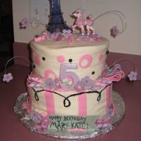 Pink Poodle In Paris My third cake. This time I learned how to smooth buttercream (Viva rocks!) and how to keep my fondant and gumpaste from cracking. The...