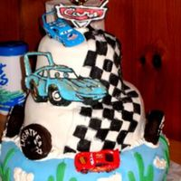 Disney Cars Cake My first-ever cake attempt. LOL You all are so inspiring I just had to try. Now I have a newfound respect for cake decorators everwhere!...
