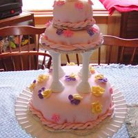 Pink Mmf Tiered Cake