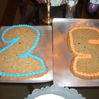 25Th Birthday Cake Cookie cake made for my BF's 25th birthday. excuse the backing. i wasn't planning on making it, so all i had to put it on were...