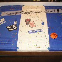 Graduation Cake For A Friends Son Spice cake with BC icing decorated to look like lockers. I believe this is an old Wilton idea. It was a full sheet cake. The family had...