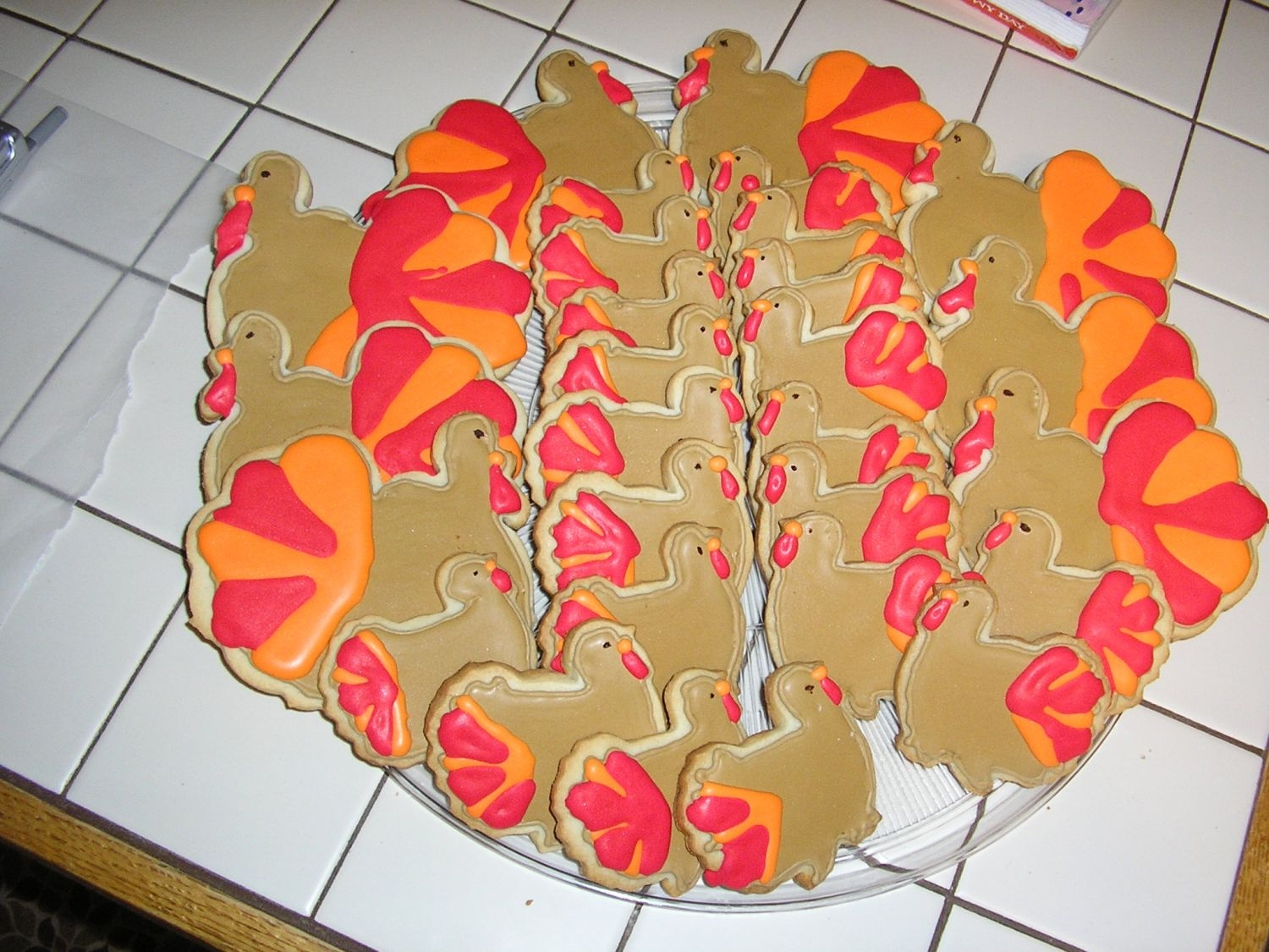 Thanksgiving Turkey Cookies Cookies were made using the No-fail sugar cookie recipe(with almond extract) and i used antoina74's Tutorial for decorating with Royal...