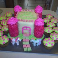 My Little Pony Cottage Castle Cake OK, I debated on even posting this one. The idea well just ran dry half way through. Also, I was out of town and didn't have any...