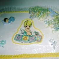 Baby Shower Cake Splenda Chocolate & White Marble Cake W/Splenda Buttercream Icing