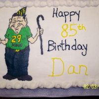 29 Again? Cake for 85 yr old man. FBCT turned out great I think!