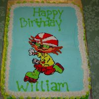 Rocket Power   1/2 sheet buttercream, hand drawn from picture