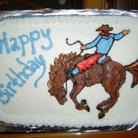 Ride 'em Cowboy 1/4 sheet with buttercream icing.