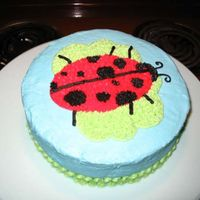 Ladybug Cake This is my first cake from the Wilton Course I class. I didn't want to do the rainbow so I did this instead. It was cuter in person