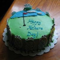 Fathers Day Cake   This cake took me FOREVER with all the color-flow golfclubs. But it was worth it. My family thought I bought them all!