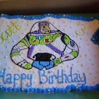 Buzz Lightyear Cupcake Cake cupcake cake with Buzz lightyear from coloring book picture, buttercream icing