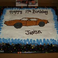 Justin - 2009 This was a cupcake cake,, and had trouble getting the icing on and smooth,, not a big fan of those cupcake cakes,, not yet anyway.