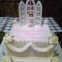All White Communion Cake
