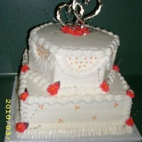 Pink/orange Shower Cake