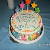 Mckayla And Jays Birthday   This cake is BC with gumpaste accents.