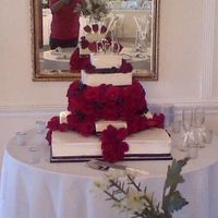 Roses Galore   wedding cake (for a couple I never met in person)
