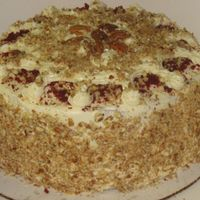 Velvet That Is Red   red velvet cake----CC icing------chopped pecans------Yummy!!!!