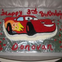 Lighting Mcqueen From The Movie Cars   picked out by our 2 year old for his 3rd birthday