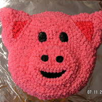 Pig Cake   All ButterCream using the Animal Crackers Pan