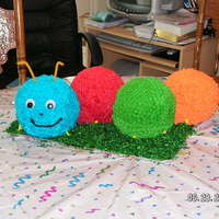 Caterpillar Cake   Made using the sports ball pan, all buttercream.