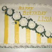 Lissa.jpg Buttercream icing, strawberry filling 1/4 sheet cake.