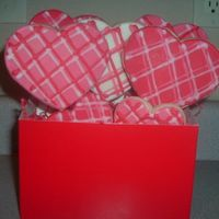 Valentine Bouquet 2   Here's this year's valentine's bouquet with the plaid again.
