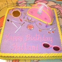 Dress Up I made this cake for a little girls dress up party. All decorations are new.