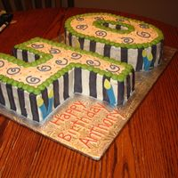Happy 40Th I borrowed this idea from ellepal...I liked it so much. It is frosted with BC and accented with my new fav MMF. Thanks for looking!