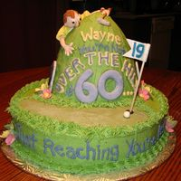 Over The Hill This was my first attempt at MMF. I really enjoyed doing it....it was a lot of fun. The cake is iced the buttercream and all the accents...