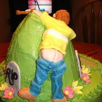 Close Up Of Golfer This is just a close up of the golfer at the back of the cake.
