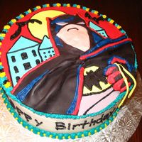 Batman Returns Chocolate cake with BC and MMF. Design from the plates, also help from CC members. Hope the little boy likes it!
