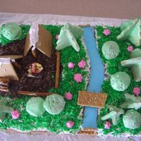 Cimg2430.jpg  Mine and my two friends first home-ec project 8th grade. frosting river and jellybean campfire. The trees are cookies and the grass is...