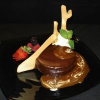 Sundial Torte A dessert I created for a restaurant where I worked as the pastry chef