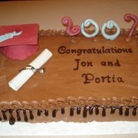 Chocolate Chocolate Graduation Cake They wanted chocolate on chocolate and that's what they got. Chocolate transfersfor the writing
