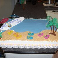 Luau Cake For Friend's Daughter