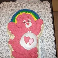 A Sad Sad Attempt At A Care Bear Cake