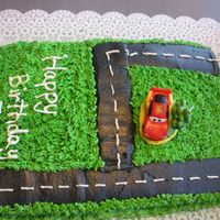 Race Car Track marble cake with buttercream frosting. This was a very last minute cake for my nephew. I got a call from my brother that they had just...