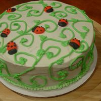 Ladybugs On A Vine I saw this design on here at CC. Thank you all for posting your pics. I made this cake in a hurry to help out the Special Olympics bake...