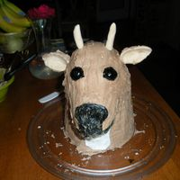 Father's Day Deer Head WASC recipe with nutella buttercream. I procrastinated with this cake. Instead of making the antlers ahead of time I did them one day...