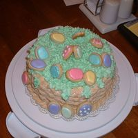Another View Of Easter Basket top view of Easket Basket Cake