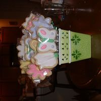 Retirement Cookie Bouquet I did these cookies for my supervisors retirement. They are Irish Cream Sugar Cookies with royal icing. I got the cute container from the...