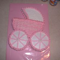 Baby Shower Carriage I used a cake from this site for inspiration. I didn't have things lined uo exactly right, but I am pretty happy with how it turned...