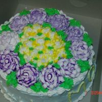 Birthday Cake For Mother-In-Law I had just learned to do roses and I was eager to make my mother-in-law this cake.