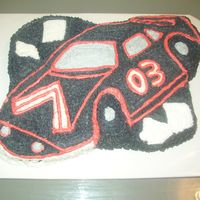 Racecar Cake This is my 1st attempt at a racecar cake!!!!! Not the best but it was fun making it. Any comments are welcome.