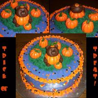 Trick Or Treat! Happy Halloween!!! This was made for a Halloween theme baby shower to welcome their newest pumpkin. It is also my first attempt to make and...