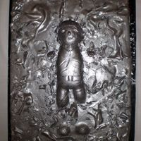 Han Solo Frozen In Carbonite  Han Solo frozen in Carbonite...or as it has been pointed out to me..... Mr. Bill Frozen in Carbonite. Either way, the groom was happy. It...