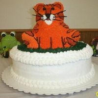 Tiger Cake Made this for an order for graduation. The school mascot is a tiger. Comments welcome!!